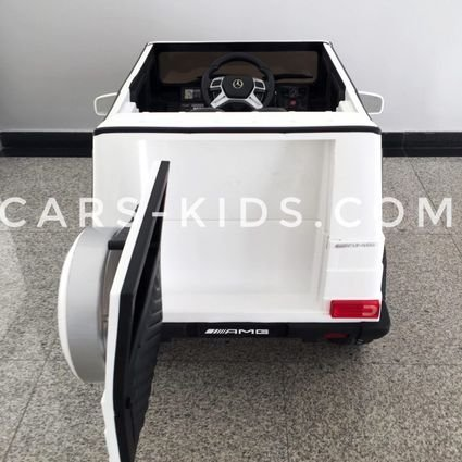 Электромобиль Mercedes-Benz G65 AMG черный глянец (АКБ 12v 10ah, колеса резина, сиденье кожа, пульт, музыка)