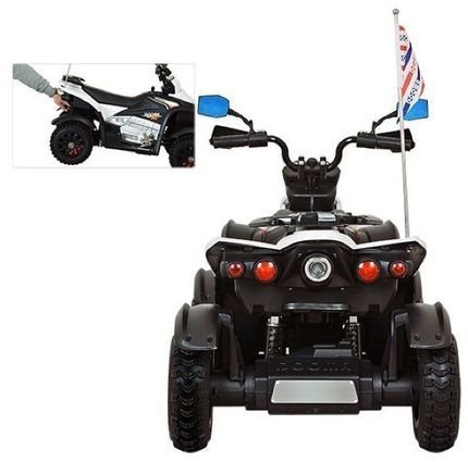 Электроквадроцикл Cross M111MP белый (АКБ 12v 10ah, колеса резина, многорычажная подвеска, музыка)